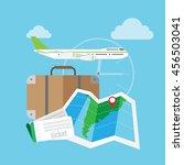 illustration of traveling ... | Shutterstock .eps vector #456503041