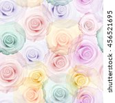 roses seamless pattern. vintage ... | Shutterstock . vector #456521695