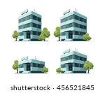 four office vector buildings... | Shutterstock .eps vector #456521845