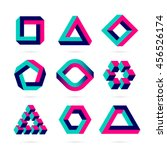 impossible shapes  optical... | Shutterstock .eps vector #456526174