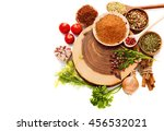 spices isolated on white | Shutterstock . vector #456532021