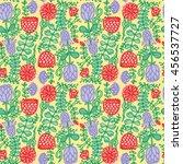 flower bump seamless pattern.... | Shutterstock .eps vector #456537727