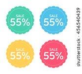 price badge icon. discount 55 ... | Shutterstock .eps vector #456540439