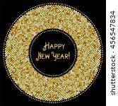 glamour golden glitter frame... | Shutterstock .eps vector #456547834