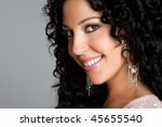 smiling woman | Shutterstock . vector #45655540