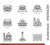asian capitals  part 1    line... | Shutterstock .eps vector #456556285