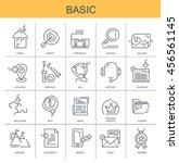 vector icons. basic
