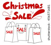 vector christmas sales... | Shutterstock .eps vector #456571681