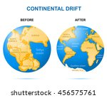 continental drift on the planet ... | Shutterstock .eps vector #456575761
