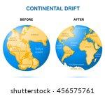 continental drift on the planet ... | Shutterstock .eps vector #456575761