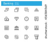 banking line icons  finance... | Shutterstock .eps vector #456584569