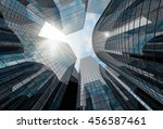 high glass skyscrapers with the ... | Shutterstock . vector #456587461