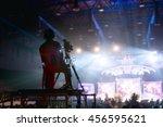 camera man is making video of... | Shutterstock . vector #456595621