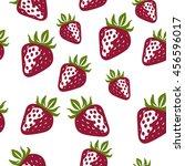 seamless strawberry pattern | Shutterstock .eps vector #456596017