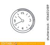 wall clock icon. editable... | Shutterstock .eps vector #456601489