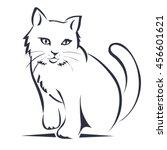 cat | Shutterstock .eps vector #456601621