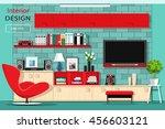 modern graphic living room... | Shutterstock .eps vector #456603121