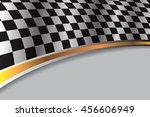 checkered flag race on gray... | Shutterstock .eps vector #456606949