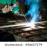 manufacture of precision parts... | Shutterstock . vector #456617179