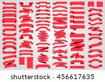 beautiful set ribbons and tags... | Shutterstock .eps vector #456617635