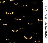 strange scary eyes in the dark... | Shutterstock .eps vector #456619747