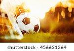 soccer ball in goal   Shutterstock . vector #456631264