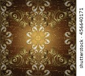 floral pattern on brown and... | Shutterstock .eps vector #456640171