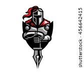 knight and nib logo | Shutterstock .eps vector #456642415