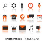 vector web icons set | Shutterstock .eps vector #45664270