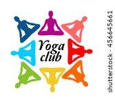 yoga club logo | Shutterstock .eps vector #456645661