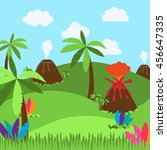 cute cartoon vector background... | Shutterstock .eps vector #456647335