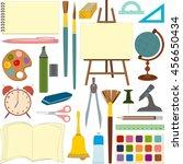 art and school supplies for... | Shutterstock .eps vector #456650434