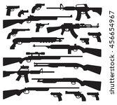 guns  rifles  shotguns ... | Shutterstock .eps vector #456654967