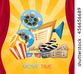 movie cinema vector cartoon | Shutterstock .eps vector #456656689