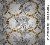 vintage pattern on white... | Shutterstock .eps vector #456656869