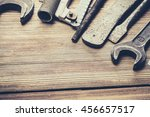 tools laid out on the table. | Shutterstock . vector #456657517