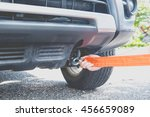 put towing car with towing rope ... | Shutterstock . vector #456659089