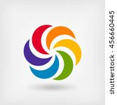 colored abstract circle symbol. ... | Shutterstock .eps vector #456660445