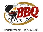 bbq grill vector icon  bbq in... | Shutterstock .eps vector #456663001