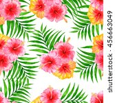 tropical pattern with... | Shutterstock . vector #456663049