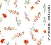 seamless pattern of a little... | Shutterstock . vector #456664351