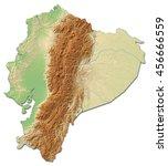 relief map of ecuador   3d... | Shutterstock . vector #456666559