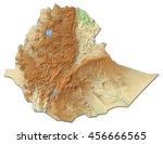 relief map of ethiopia   3d...   Shutterstock . vector #456666565