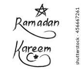 ramadan kareem.  typographic... | Shutterstock . vector #456667261