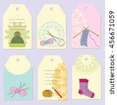set creative gift tags. stock... | Shutterstock .eps vector #456671059