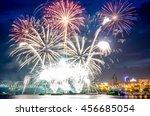 Big Fireworks Over The River...