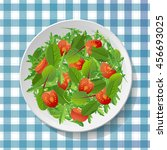 vegetable salad with fresh... | Shutterstock .eps vector #456693025