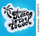 hand drawn typography black... | Shutterstock .eps vector #456693775