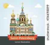 russia. saint petersburg.... | Shutterstock .eps vector #456698899