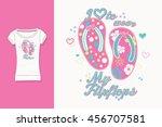 t shirt print. graphic design.... | Shutterstock .eps vector #456707581